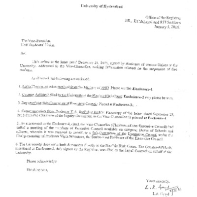 8 offcial documents from MHRD and university
